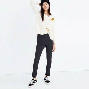 Madewell Women's Black Fraser Slim Ponte Pants 29